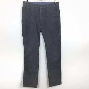 L.L. Bean Men's Gray Corduroy Pants 35W 34L
